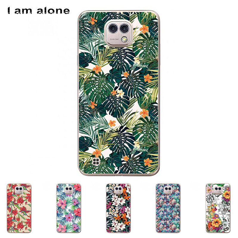 I am alone Phone Shell For LG X Cam K580 5.2 inch Solf TPU Colorful Fashion Cute Flower Cellphone Cases For LG X Cam K580
