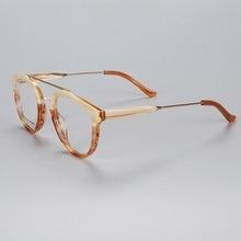 Ручная работа, Модные оптические очки, оправа для мужчин и женщин, винтажные ацетатные очки, оправа кошачий глаз, оправа для очков, высокое качество, K9203