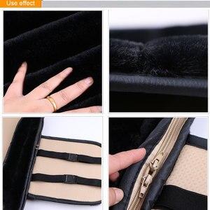 Image 5 - 2 Pieces Winter Plush Car Seat Cover Luxury Artificial Rabbit Fur Car Seat cushion Cloac Warm beautiful