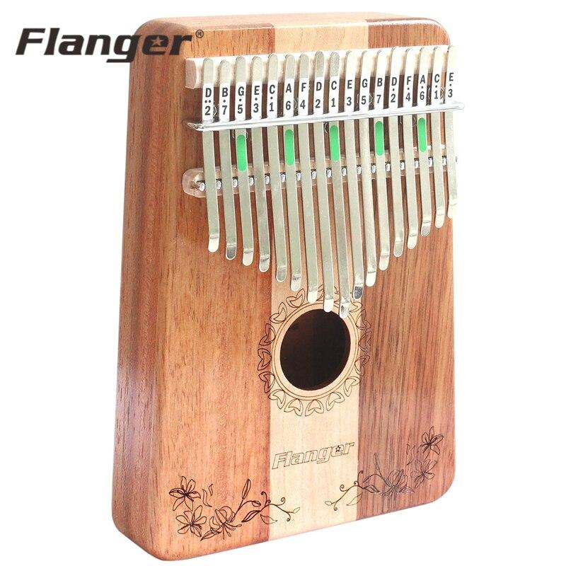 Flanger C Tuning 17 Clé Doigt Kalimba Acacia Bois Marimba Piano Doigt Percussion Instrument Thumb Pocket Taille Avec Support Sac