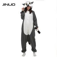 JINUO charmander Lemur jednorożec Cosplay Piżama Zwierząt dla dorosłych onesies piżama one piece kombinezon piżama piżama mężczyzn cookie