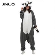JINUO unicorn Cosplay Pajamas Animal Lemur charmander pyjama men pajamas one piece jumpsuit pijama onesies for adults cookie
