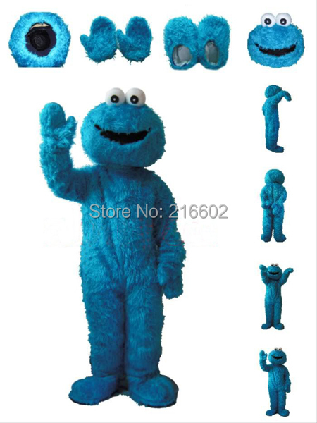 cosplay costume Blue Cookie Monster Mascot costume Being Costumes Adult Character Costume Fancy dress