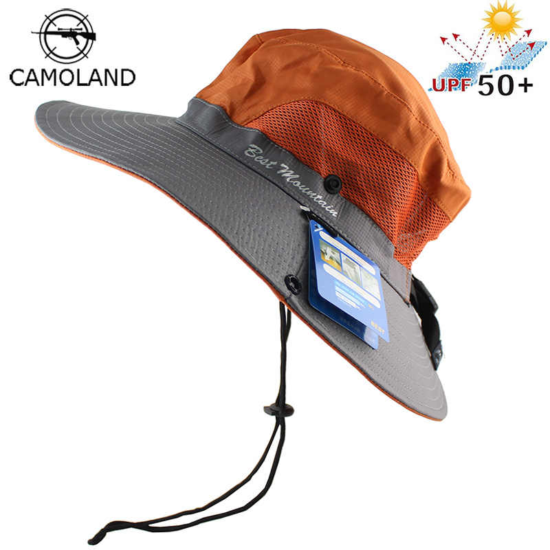 a5350695bdaf1 Waterproof UPF 50+ Sun Hat Bucket Summer Men Women Fishing Boonie Hat Sun  UV Protection