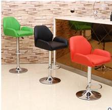 Lifting rotary high foot bar chair casual thickening bar PU leather chair(China)