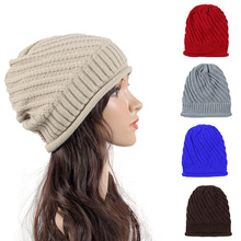 cf080242b6b Women Cap Hat Skully Trendy Warm Chunky Soft Stretch Cable Knit Slouchy  Thicken Beanie Winter Hats · 6 Colors Available