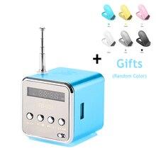 Vapeonly TD-V26 красочные мини Динамик стерео Бас музыкальный плеер Поддержка USB SD карты памяти Портативный FM радио с светодиодный и держатель телефона
