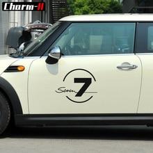 40 см творческий винил боковой двери наклейка Наклейки бульдог семь 37 Графический для Mini Cooper S Countryman один R50 R52 r53 R56 f55 F60