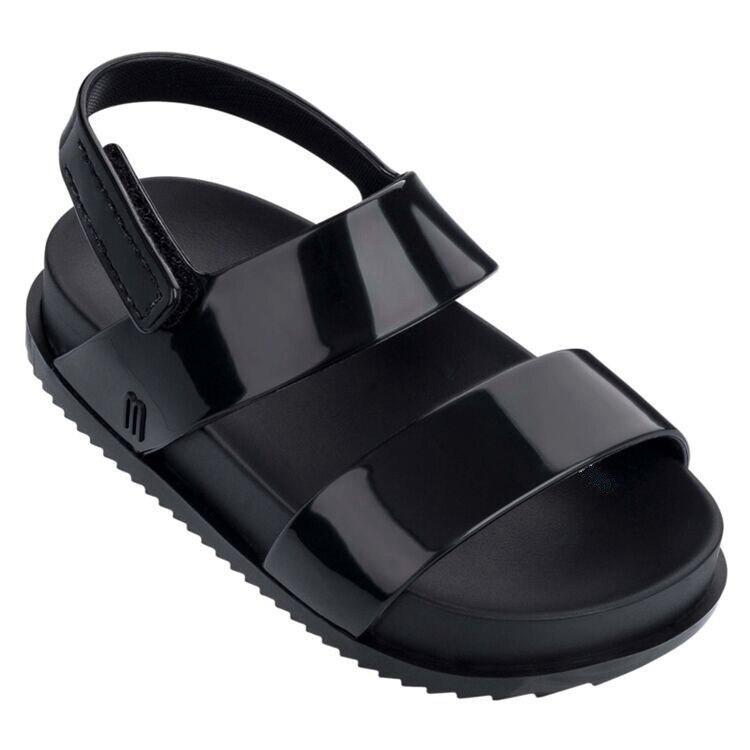 Mini Melissa Brands Sandals 2019 New Girl Sandals  Melissa Kids Shoes Beach Sandals For Girls 13cm-1cm Non-slip