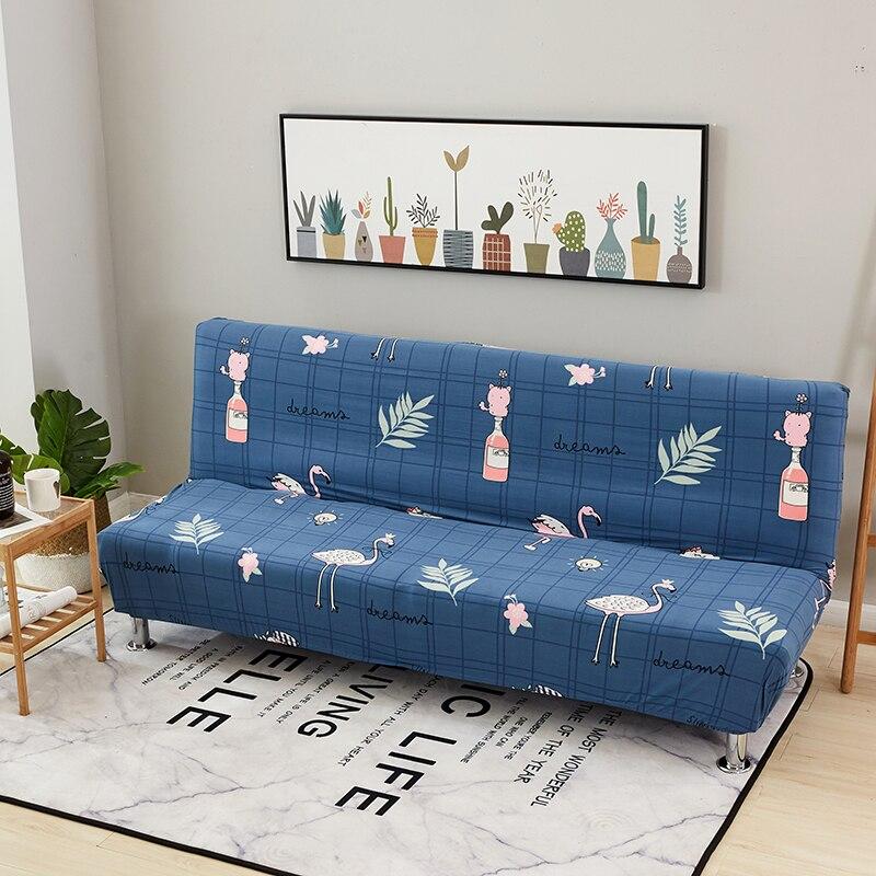 Blauw Flamingo All-inclusive Sofa Cover Strakke Wrap Elastische Sofa Handdoek Hoes Cover Couch Zonder Armsteun Vouwen Sofa Cover Genezen Van Hoest En Het Verlichten Van Slijm En Verlichten Heesheid