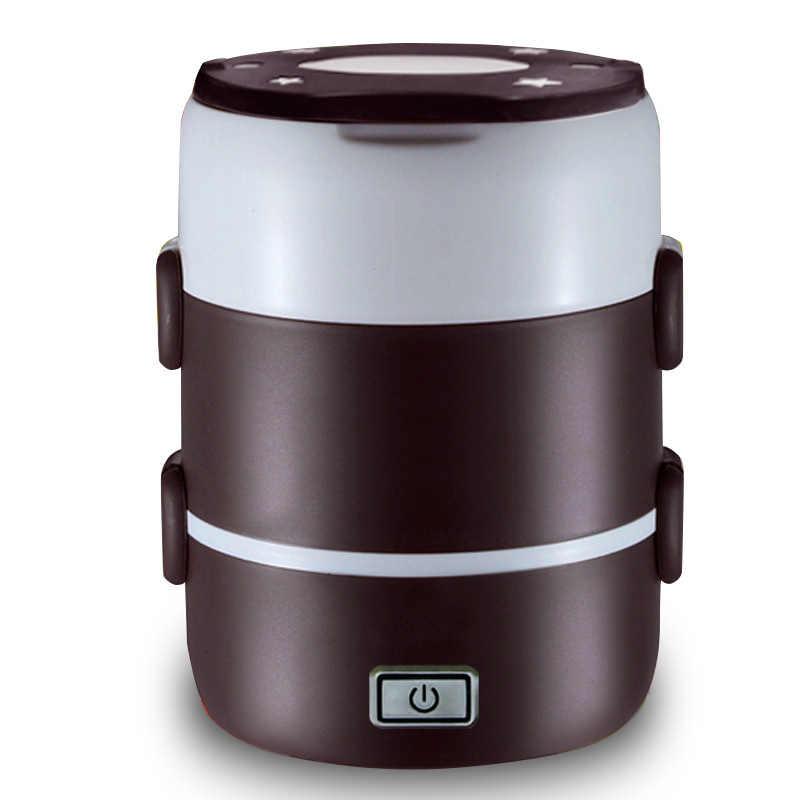 Mini Panela de Arroz Dois/Três Camadas de Isolamento Multifuncional Plug-in Caixa de Almoço Aquecimento Elétrico Cozinhar