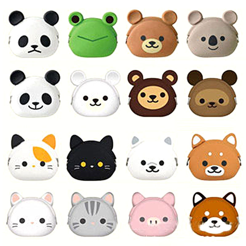 2017 Cute Animals Silicone Coin Purse Kids Gift Mini Small Change Cartoon Kids bags Key Earphone Storage Bags Purse Hot sell Y3 alfa бра alfa willma 23350