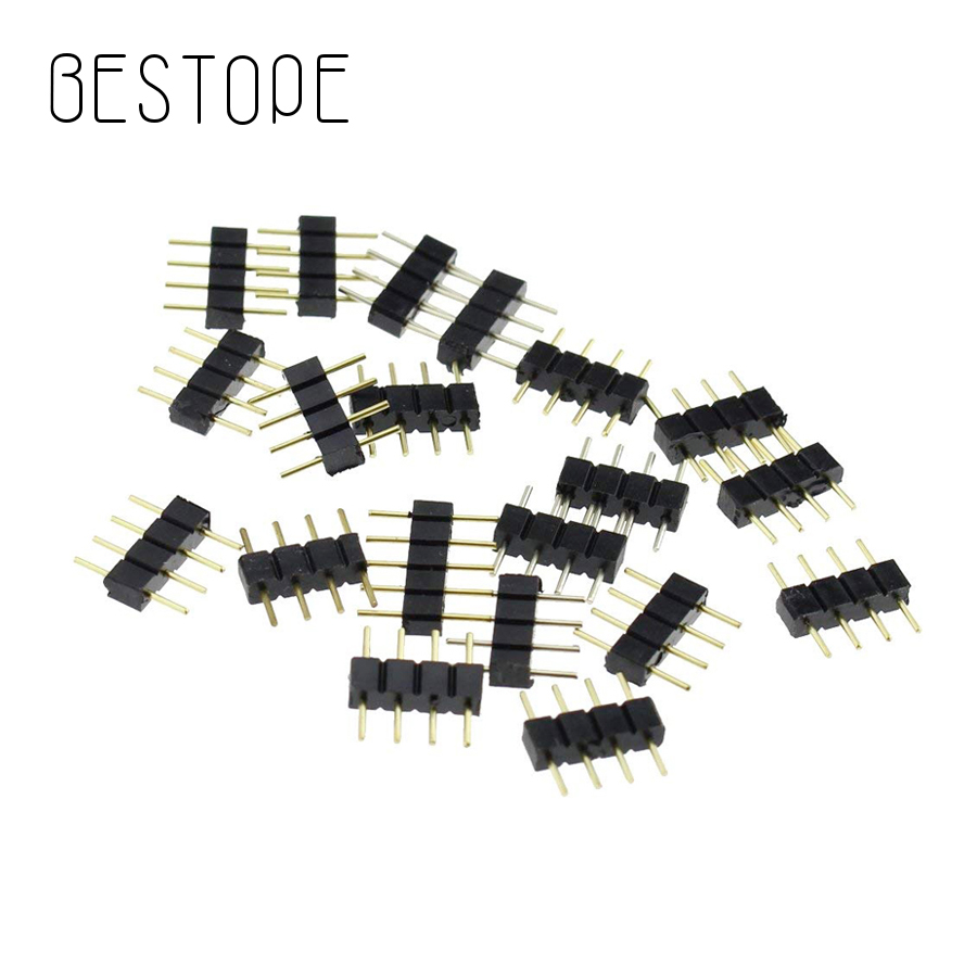 5pcs/Lot 4 Pin 5pin Splitter Cable LED Strip Connector for 2835 5050 RGB RGBW LED Light Strips Terminals connector needle