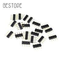 5 unids/lote 4 Pin 5pin del Cable del divisor del conector para tira de LED 2835 RGB 5050 RGBW tiras de luz LED Conector de terminales aguja