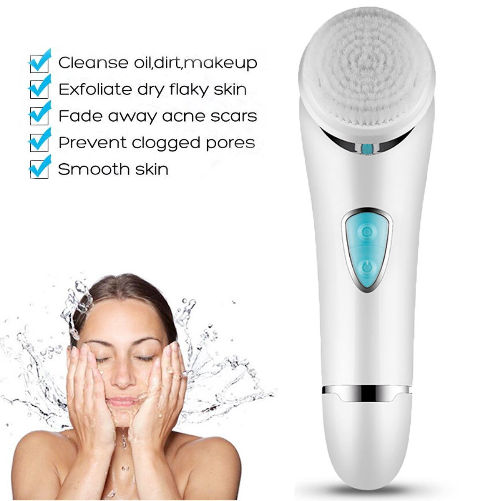 Facial Cleansing Brush Facial Brush Face Brush Exfoliating Brush Face Scrubber electris soft spin Waterproof with 2 Heads touchbeauty 3 in1 rotating facial cleansing brush set with 3 replacement brush heads 2 speed settings with storage box tb 0759a