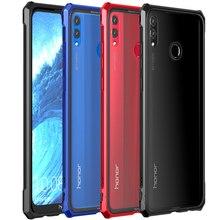 Роскошный металлический Броня чехол для Honor 8X Max телефон алюминиевая рамка прозрачный стеклянный чехол huawei Honor 8 X чехол Honor8X 8 XMax On