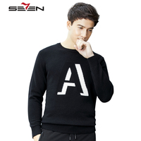 Seven7 Brand Mens Knitted Sweaters Male Turtleneck Sweater For Men Boyfriend Cotton Winter Jumper Christmas Gift