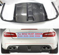 Carbon fiber Rear Bumper Lip Spoiler Diffuser Cover For Benz W207 C207 Coupe E63 E250 E350 2009 2010 2011 2012 BY EMS