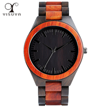 2017 Men's Wooden Bamboo Creative Wrist Watch Analog Quartz Movment Natural Outdoor Steampunk Clock Gifts relogio masculino