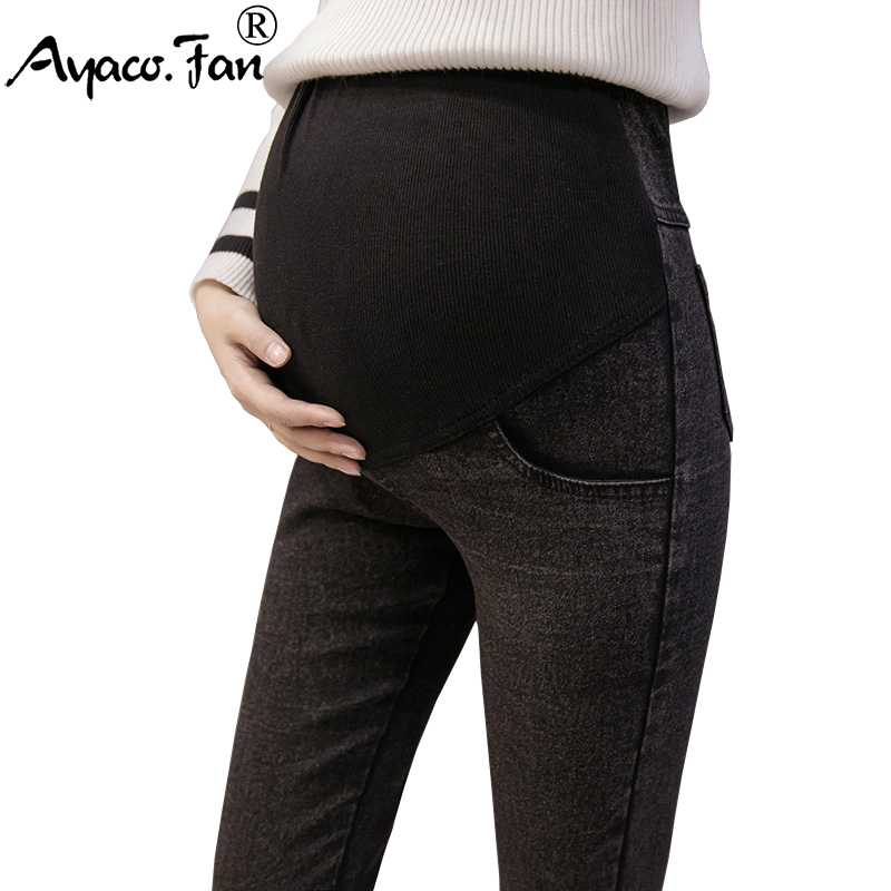 M-3XL Maternity Jeans for Pregnant Women Pregnant Pants Elastic Pregnancy Clothes Spring 2019 New Slim Maternity Pant Plus Size image