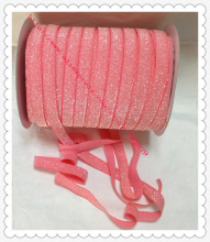 50yards lot Non stretch 1 5 Frosted Watermelon Glitter Ribbon