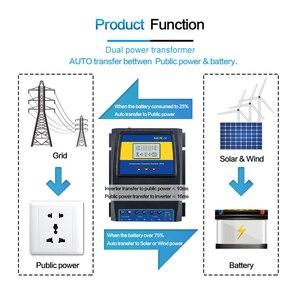Image 4 - Otomatik çift güç aktarma anahtarı 11000W Max güç güneş şarj regülatörü güneş rüzgar sistemi için AC 110V 220V açık/kapalı izgara