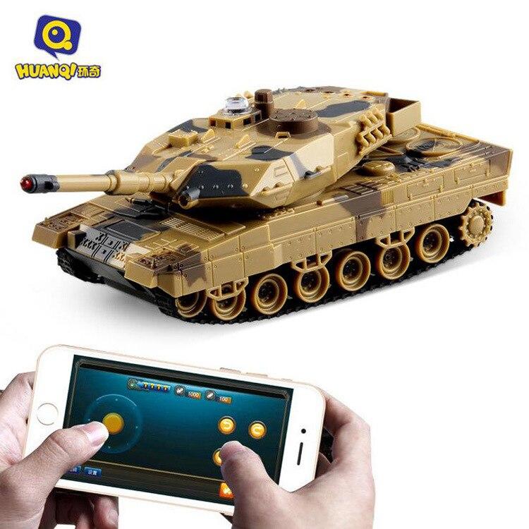 Huanqi H500 1:36 RC tanque de batalla teléfono inteligente Bluetooth controlado