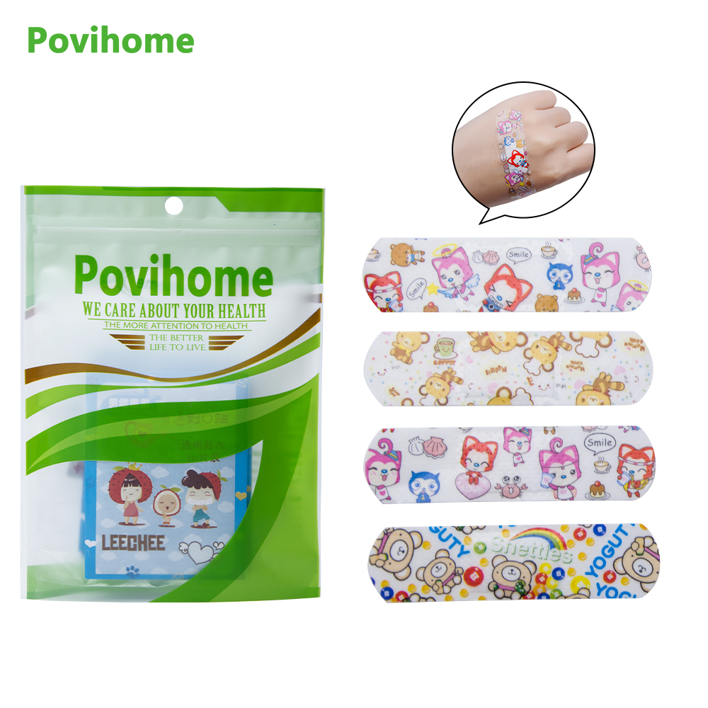 50pcs Waterproof Bandages First Aid Hemostasis Band-aid Stickers Cute Cartoon Medical Plaster Wound Patches Emergency Kit C1204 Beauty & Health Health Care