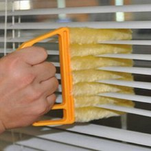 Useful Microfiber Window Cleaning Brush Air Conditioner Duster Cleaner with Washable Venetian Blind Blade Cleaning Clothes
