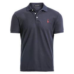 GustOmerD Новый мужская рубашка-поло для мужчин s повседневное олень вышивка хлопок мужские Поло рубашка короткий рукав высокое количество
