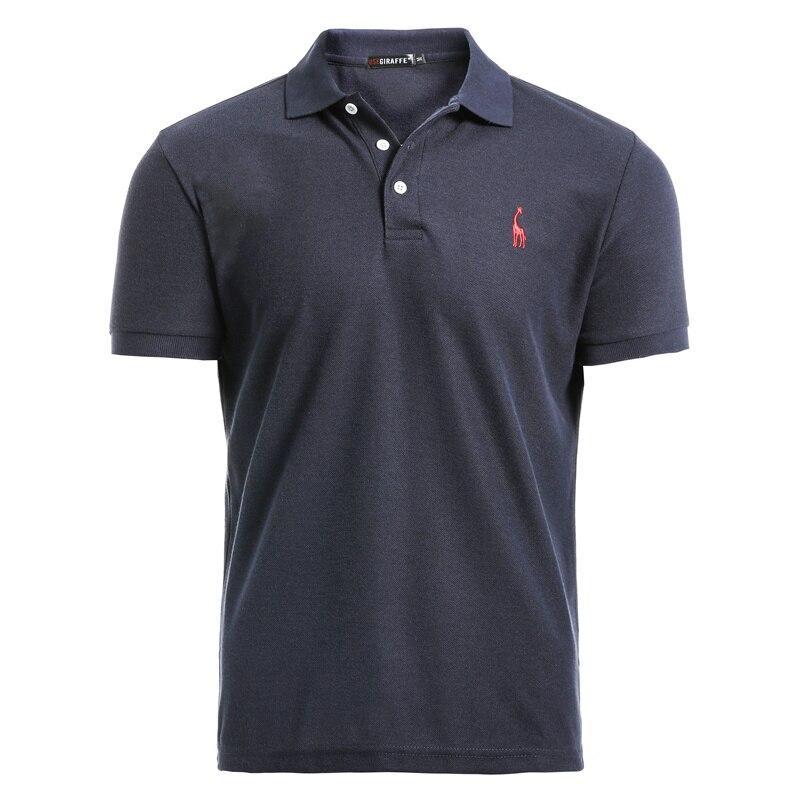 GustOmerD nuevo hombre camisa de Polo para hombre Casual ciervo bordado de algodón camisa de Polo de los hombres de manga corta de alta cantidad de polo de los hombres
