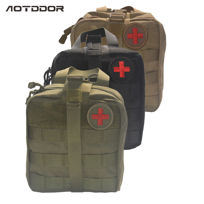 3 Layers Large Pouch Travel First Aid Kit Survie Portable Survival Tactical Emergency Bag Military Kit Medical Quick Pack