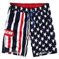 Американский флаг 2016 Лето Стиль Мужчины Пляжные Шорты Бренд Быстрое Высыхание брюки Мужчины Шорты Борту MAPP04061