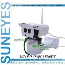 SunEyes SP-P1801SWPT Uzaktan Pan/Tilt Rotasyon IP Kamera ile 1080 P Full HD Kablosuz Wifi Açık Su Geçirmez Mikro SD yuvası