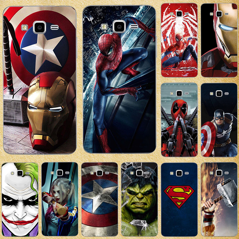 Super Hero Phone <font><b>Case</b></font> Cover for <font><b>Samsung</b></font> <font><b>Galaxy</b></font> <font><b>Core</b></font> <font><b>Prime</b></font> G360 G3608 G360F <font><b>G360H</b></font> G361 G361F G361H VE SM-G361H Back Cover Bags image