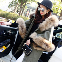 High Quality Winter Jacket Women 2018 Fashion Parkas Autumn Winter Large Real Natural Raccoon Fur Hooded Army Green Coat