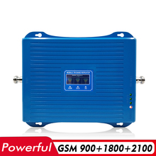 70 дБ усиление 30dBm трехдиапазонный мобильный усилитель сигнала GSM 900 + DCS/LTE 1800 + UMTS WCDMA 2100 2G 3g 4G ретранслятор сигнала сотового телефона