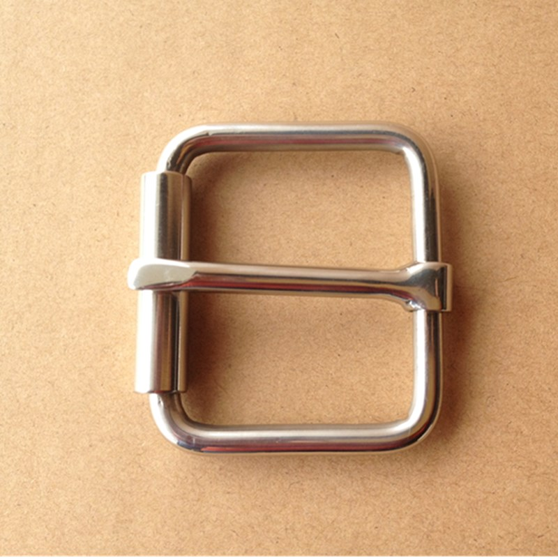 Weightlifting Belt Buckle Stainless Steel  Pin Buckle Leather Belt Buckle With Roller For 43mm  Strap W043