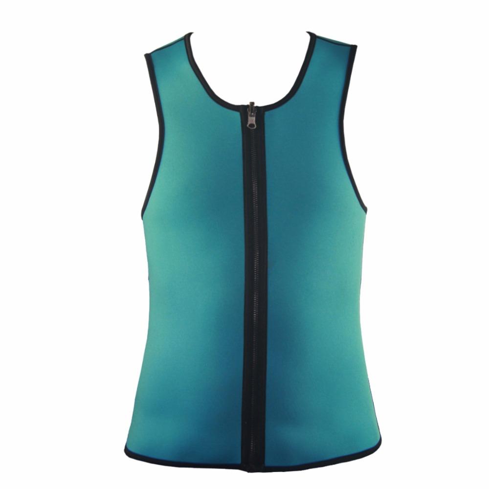 Men Latex Ultra Sweat Hot Waist Trainer Body Shaper Slimming Fit Vest Neoprene Front Zipper Fat Borning Control Top Shapewear (15)