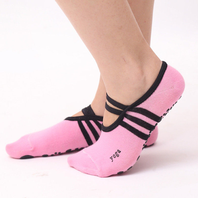 Professional Soft Cotton Non-Slip Socks Dance Socks Sock Silicone Massage Pilates Fitness Socks ...