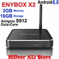 ENYBOX X2 S912 Amlogic Octa Núcleo 2 GB/16 GB Caixa de TV Android 6.0 2.4G/5 GHz ac wi-fi lan bt4.0 4 k 60 fps kodi media player ota mxq PRO