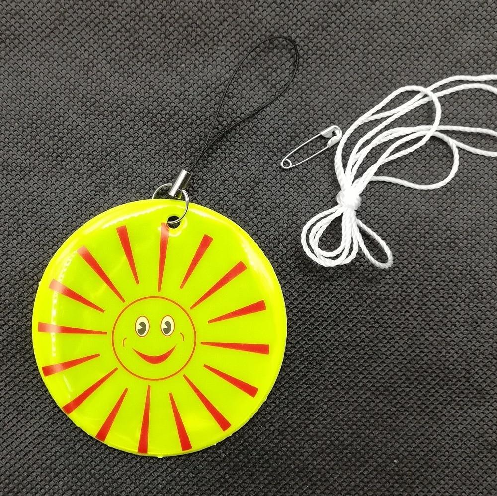 Smile Sun Model Reflective Keychain Bag Pendant Accessories High