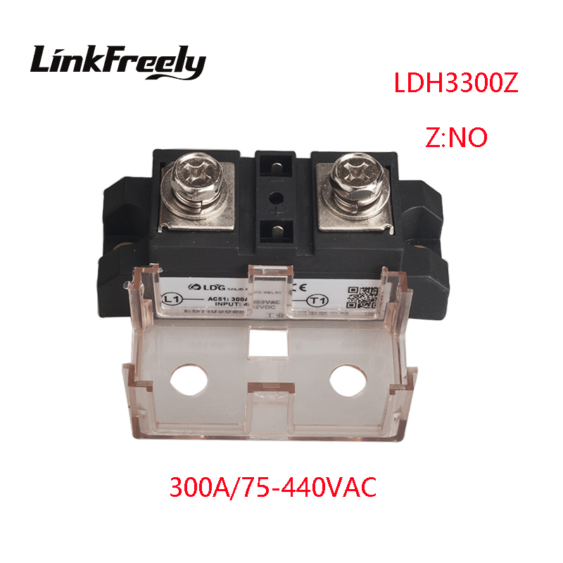 цена на LDH3300Z 2pcs 300A High Power 1 Phase AC Solid State Relay Output 75-480VAC Input 5V 12V 24V 32V DC SSR Voltage Relay Board