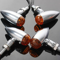 4 Unidades Chrome Bullet Turn Signal Indicator Lamp Light Para Harley Motocicleta/Chopper