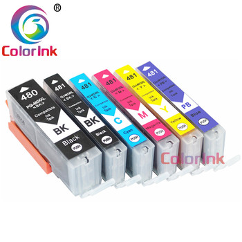 ColorInk 6pack for Canon 480 XXL PG480XXL CL481XXL ink cartridge TR7540 TR8540 TS6140 TS8140 TS9140 printer color cartridge