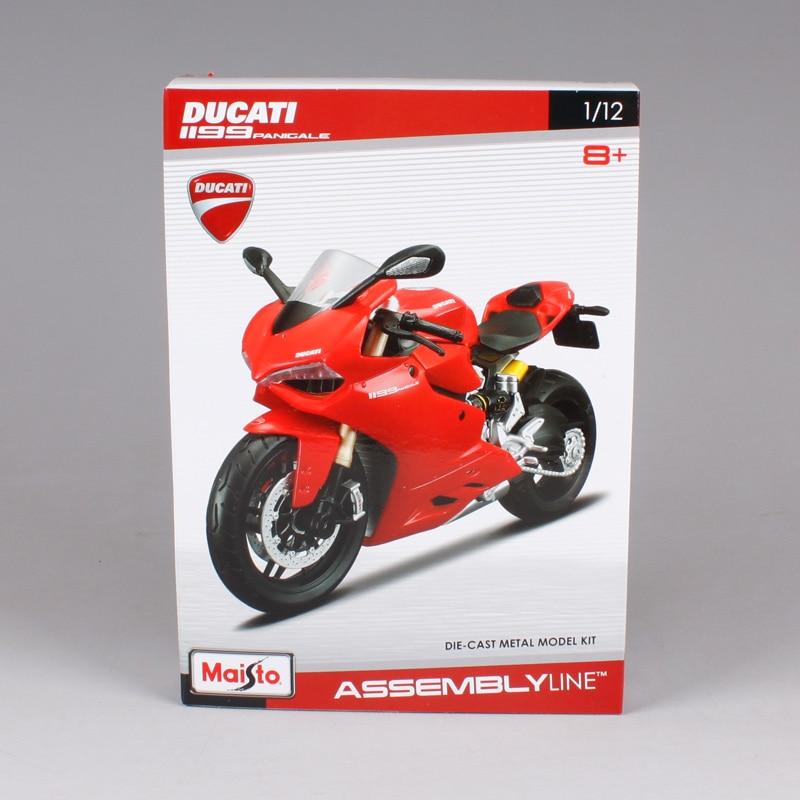 Maisto 1:12 Ducati 1199 PANIGALE жиынтығы DIY MOTORCYCLE BIKE - Дизайнерлер мен құрылыс ойыншықтары - фото 6