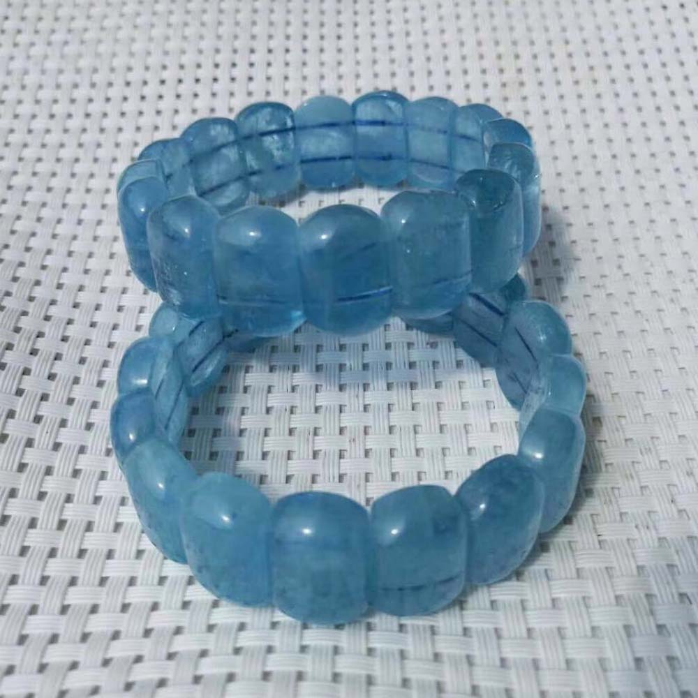 natural aquamarines stone beads bracelet natural stone bracelet DIY jewelry for woman for gift free shipping wholesale ! natural aquamarine stone beads bracelet natural gemstone bangle for woman for gift birth stone of pisces