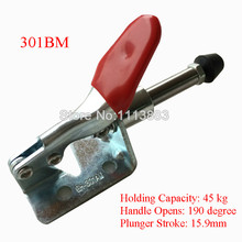 5PCS Pull Push Toggle Clamp 301BM  Holding Capacity 45KG 99LBS 45kg 99 lbs holding capacity 16 7mm plunger stroke push pull type toggle clamp