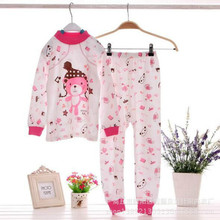 of thin men and women's underwear set of cotton, cotton, comfortable and cute cartoon monkey printing thermal underwear