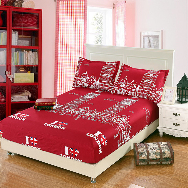 Fitted Bed Sheet Summer Elastic Bed Cover Mattress Covers Cushion Cover Bed  Clothes Bedspread British Style